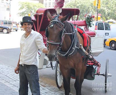 New York City Horse And Carriage Art Print by John Telfer