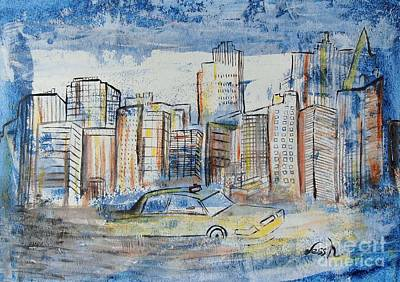 Painting - New York City by Jessie Art