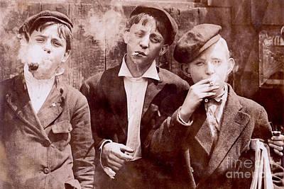 Old Times Photograph - New York City Kids by Jon Neidert