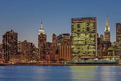 New York City Landmarks Print by Susan Candelario