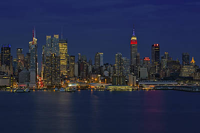 Skylines Royalty-Free and Rights-Managed Images - New York City Lights by Susan Candelario