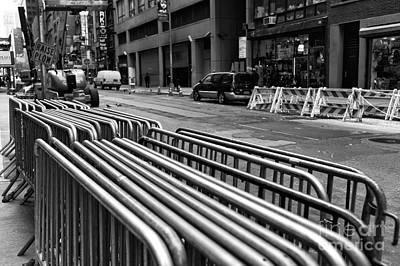 New York City Lines Mono Print by John Rizzuto