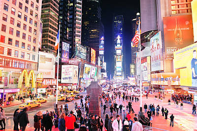 Caravaggio - New York City Manhattan Time Square night by Songquan Deng