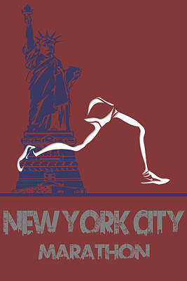 New York City Marathon Art Print by Joe Hamilton