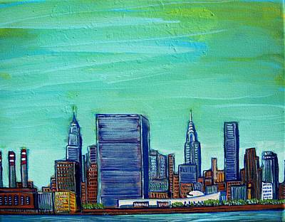 New York City Midtown Art Print by Mitchell McClenney