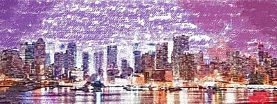 Painting - New York City - Typography by Samuel Majcen