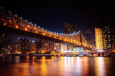 Skylines Photograph - New York City - Night Lights by Vivienne Gucwa