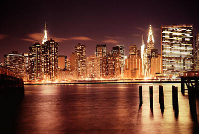New York City - Night Art Print by Vivienne Gucwa