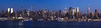 Photograph - New York City Panorama At Dusk by Alex Llobet