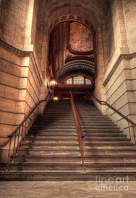 New York City Public Library Art Print by David Bearden