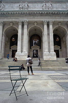 Photograph - New York City Public Library by Ray Warren