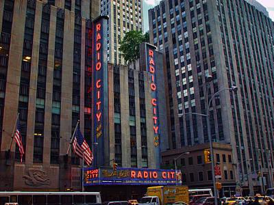 Photograph - New York City Radio City Music Hall  by New York