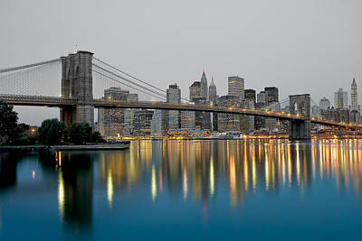 Pier 17 Digital Art - New York City Reflections At Night by Keith Yates
