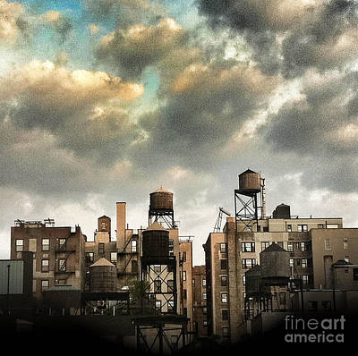New York City Rooftops Print by Amy Cicconi