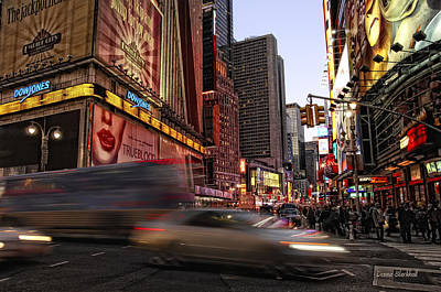Photograph - New York City Rush by Donna Blackhall