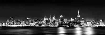 New York City Skyline - Bw Art Print by Az Jackson