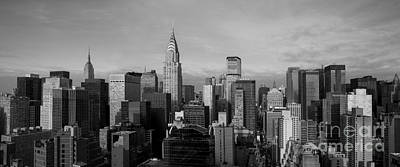 Skylines Royalty-Free and Rights-Managed Images - New York City Skyline by Diane Diederich