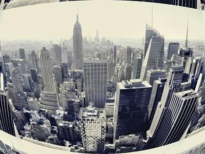Skylines Royalty-Free and Rights-Managed Images - New York City Skyline Dream by Dan Sproul