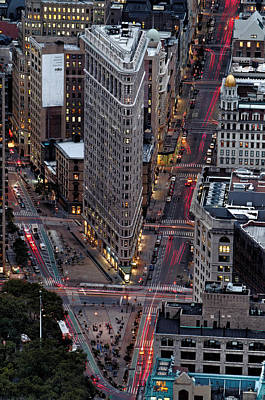 Skylines Royalty-Free and Rights-Managed Images - New York City Skyline Flatiron building by Silvio Ligutti