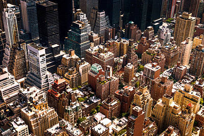 Density Photograph - New York City Skyline From Above by Vivienne Gucwa