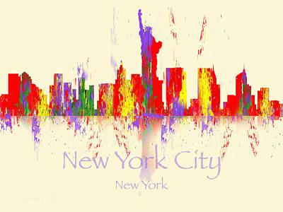 Digital Art - New York City Skyline I by Loretta Luglio