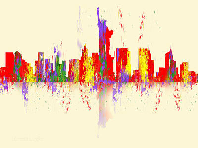 Digital Art - New York City Skyline II by Loretta Luglio