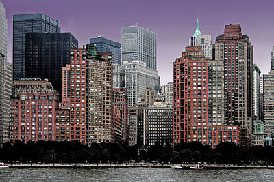 Art Print featuring the photograph New York City Skyline Image by Christopher McKenzie
