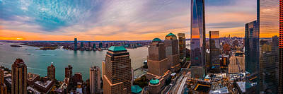Sunset Photograph - New York City Skyline by Jeff Ortakales