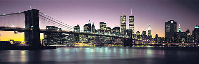 Twin Towers Photograph - New York City Skyline by Jon Neidert