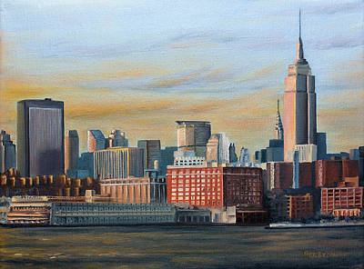 Skyline Painting - New York City Skyline by Nick Buchanan