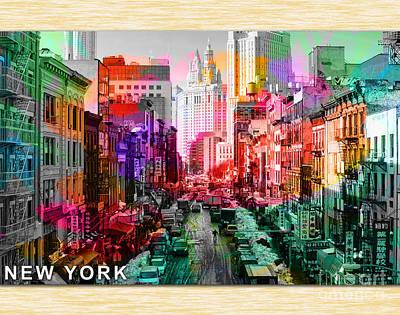 New York City Skyline Mixed Media - New York City Skyline Painting by Marvin Blaine