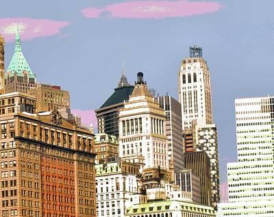 Photograph - New York City Skyline by Luther Fine Art