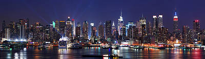 New York City Skyline Panorama Art Print