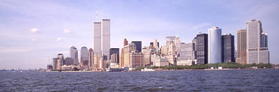 Twin Towers Photograph - New York City Skyline Panoramic by Mike McGlothlen