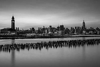 New York City Skyline Stillness Bw Art Print