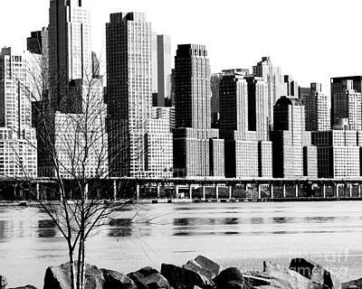 Photograph - New York City Skyline Trump Buildings by Kathy Flood