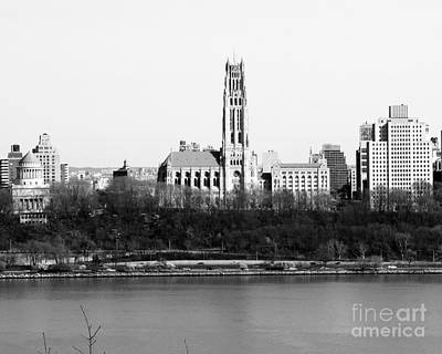Photograph - New York City Skyline With Cathedral by Kathy Flood