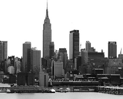 Photograph - New York City Skyline With Empire State Building by Kathy Flood