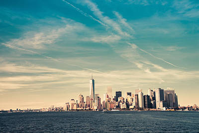 New York City Skyline Photograph - New York City - Skyline With One World Trade Center by Vivienne Gucwa