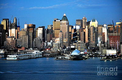 Photograph - New York City Skyline With Space Shuttle Dome by Kathy Flood