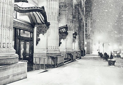 Bryant Park Photograph - New York City - Snowy Winter Night by Vivienne Gucwa