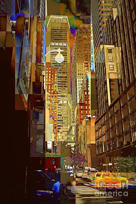 Photograph - East 45th Street No. 2 - New York City Street Scene by Miriam Danar