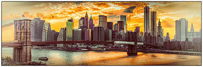 Skylines Royalty-Free and Rights-Managed Images - New York City Summer Panorama by Chris Lord