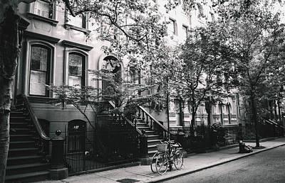 Brownstones Photograph - New York City - Summer - West Village Street by Vivienne Gucwa