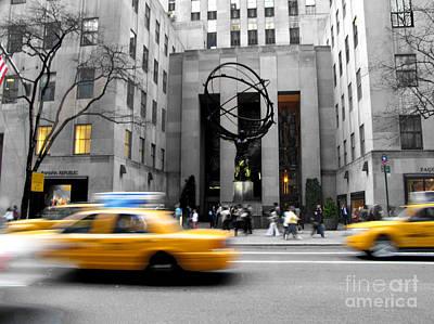 Photograph - New York City Taxi by Kathy Flood