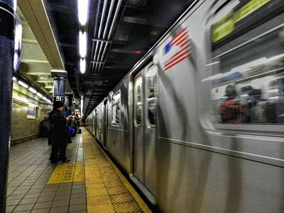 Photograph - New York City - The Subway 002 by Lance Vaughn