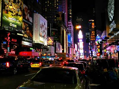 Photograph - New York City - Times Square 002 by Lance Vaughn