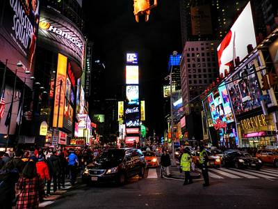 Photograph - New York City - Times Square 008 by Lance Vaughn