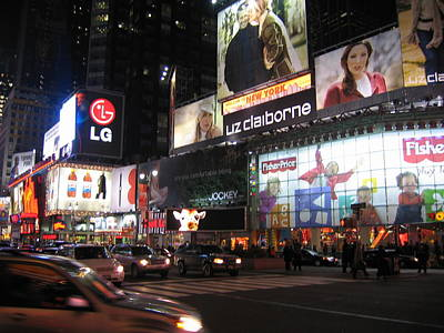 New York City - Times Square - 12124 Art Print by DC Photographer