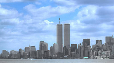Photograph - New York City Twin Towers Glory - 9/11 by Tap On Photo